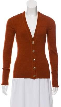 Tory Burch Wool Long Sleeve Cardigan