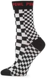 Proenza Schouler PSWL Checkerboard Crew Socks