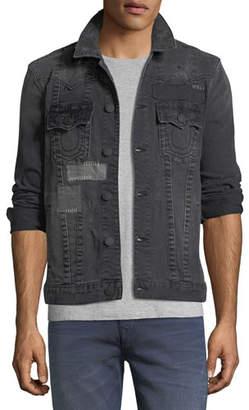 True Religion Jimmy Patchwork Denim Jacket $269 thestylecure.com