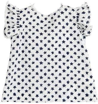 Il Gufo Star Printed Cotton & Linen Blend Shirt