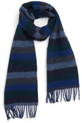 Barbour Seaton Stripe Wool Scarf