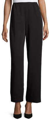 Caroline Rose Full-Length Gabardine Travel Pants, Black