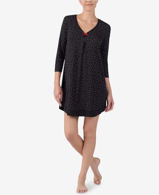 Ellen Tracy Printed 3/4-Sleeve Nightgown