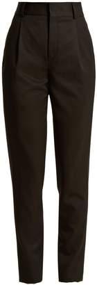 Saint Laurent High-rise wool slim-leg trousers