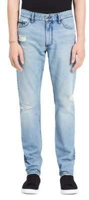 Calvin Klein Jeans Slim-Fit Distressed Cotton Jeans