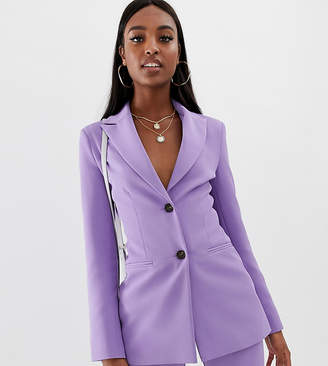 Asos Tall DESIGN tall pop waisted suit blazer