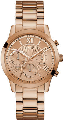 GUESS Women Rose Gold-Tone Stainless Steel Bracelet Watch 40mm
