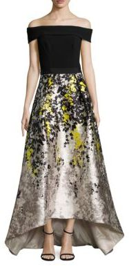 Theia Hi-Lo Off-The-Shoulder Gown $1,295 thestylecure.com
