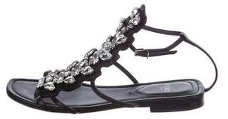 Fendi Embellished Flat Sandals