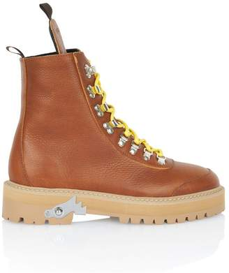 Off-White Off White Camel Hiking Combat Boot