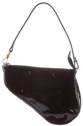 Christian Dior Leather Mini Saddle Bag