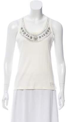 Christian Dior Crystal Embellished Sleeveless Top