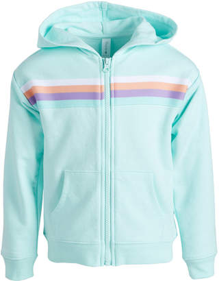 Ideology Toddler Girls Striped Zip-Up Hoodie, Created for Macy's