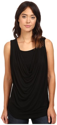 Christin Michaels - Freida Sleeveless Cowl Neck Top with Built-In Camisole Women's Sleeveless $59 thestylecure.com