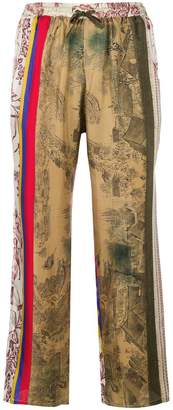 Pierre Louis Mascia Pierre-Louis Mascia patterned cropped trousers