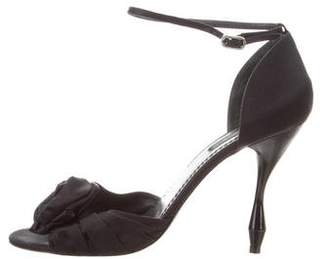 Marc Jacobs Velvet Ankle Strap Sandals