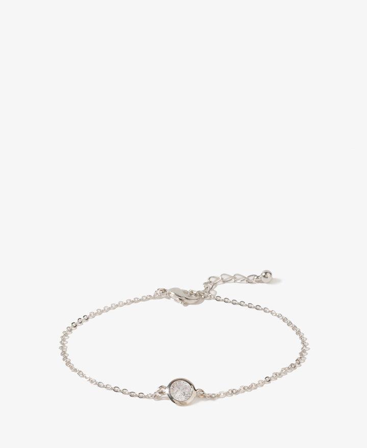 Forever 21 Rhinestone Charm Bracelet