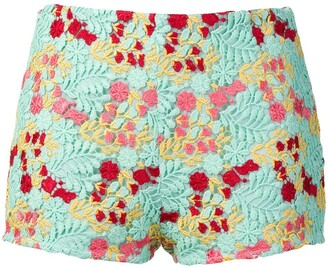 Giamba multicoloured embroidered shorts