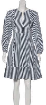 Khaite Striped Long Sleeve Dress