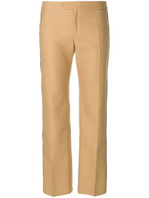 Chloé twill straight trousers