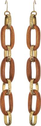 Aris Geldis Long Wood Earrings