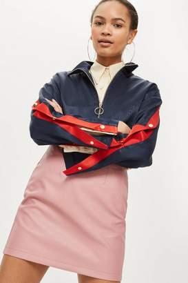 Topshop High Waist PU Mini Skirt