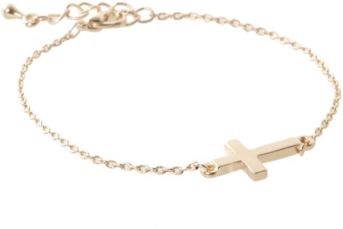 Asos Fine Cross Charm Bracelet
