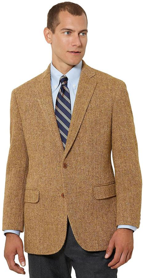 Brooks Brothers Madison Fit Herringbone Harris Tweed Sport Coat
