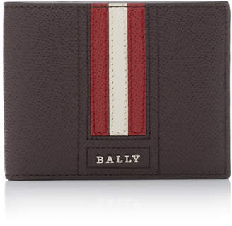 Bally Striped Leather Bi-Fold Wallet