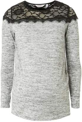 Dorothy Perkins Womens **Maternity Lace Yoke Top
