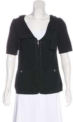 Chanel Open Knit Short Sleeve Cardigan
