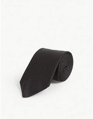 Tiger of Sweden Mini dot silk tie