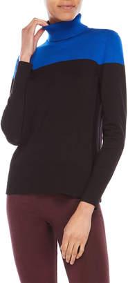 Cable & Gauge Color Block Turtleneck Sweater