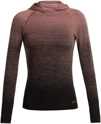 PEPPER & MAYNE Hooded ombré compression performance top
