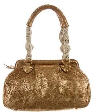 Miu Miu Metallic Leather Shoulder Bag