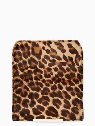 Kate Spade Make it mine leopard-print haircalf flap