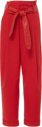 Marissa Webb Anders Linen Pant with Leather Belt