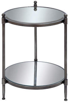 Cole & Grey Metal and Mirror End Table