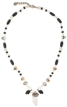 Alexander McQueen rock crystal necklcae
