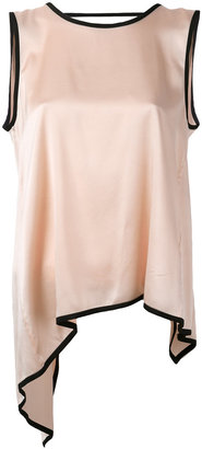 Jucca asymmetric flared blouse $178.11 thestylecure.com