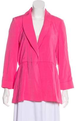 Alice + Olivia Shawl-Lapel Structured Blazer