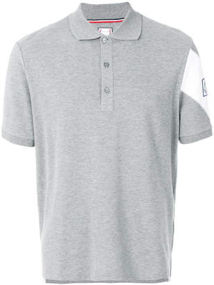 Moncler Gamme Bleu embroidered logo polo shirt