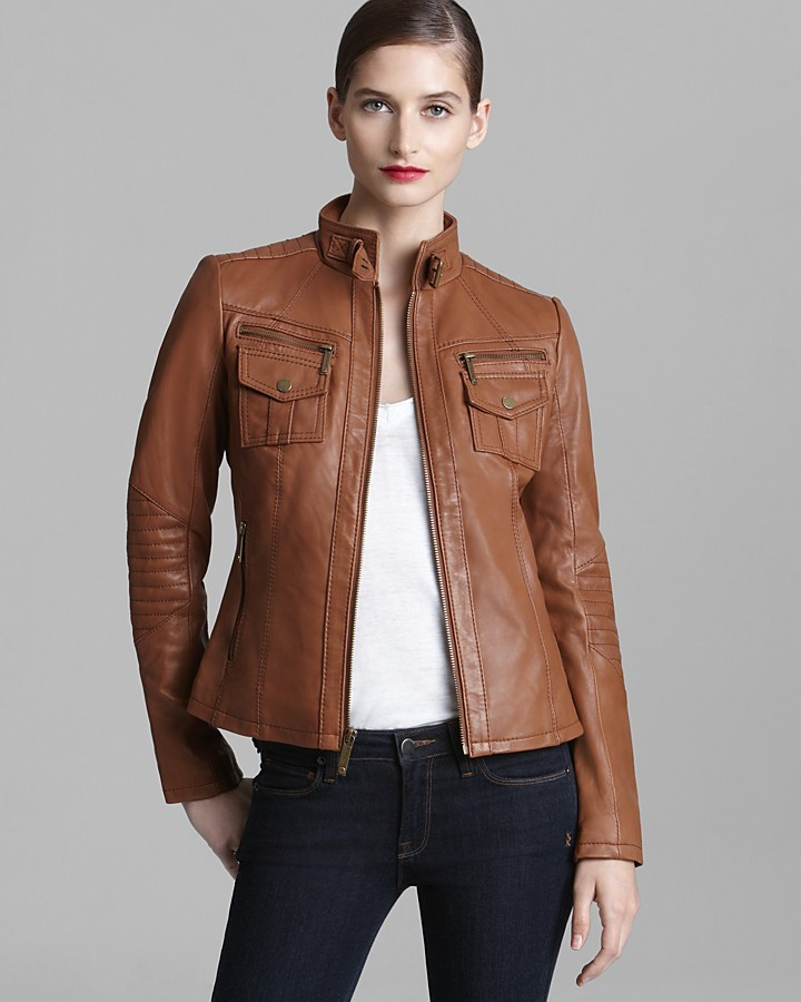 KORS Leather Jacket - Moto with Pockets