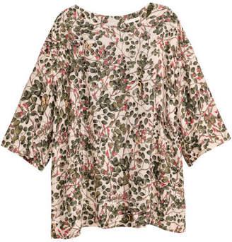 H&M Short-sleeved Blouse - Beige