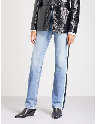 Calvin Klein Side-stripe high-rise straight jeans