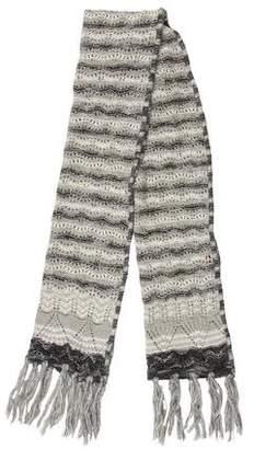 Missoni Metallic Open Knit Scarf