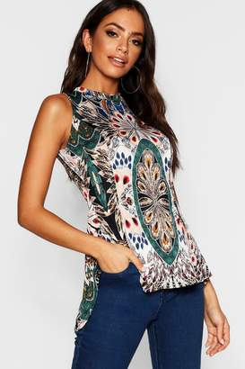 boohoo Paisley Print Swing Top