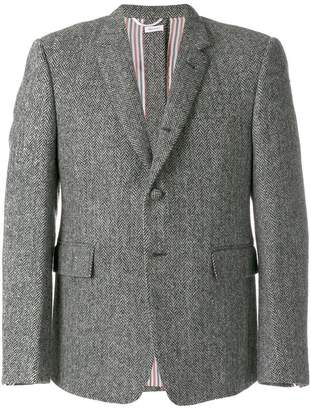 Thom Browne Herringbone Button-back Sport Coat