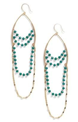 Serefina Beaded Chandelier Drop Earrings