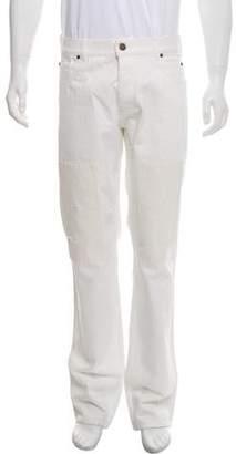 Calvin Klein Silk-Accented Straight-Leg Jeans w/ Tags